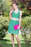 Vestido corto verde 2017 Baunda 1749