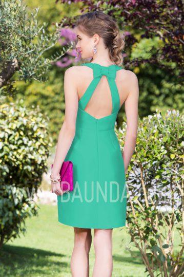 Vestido corto verde 2017 Baunda 1749 espalda