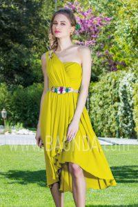 Vestido corto amarillo 2017 Baunda 1751