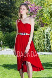 Vestido corto rojo 2017 Baunda 1752