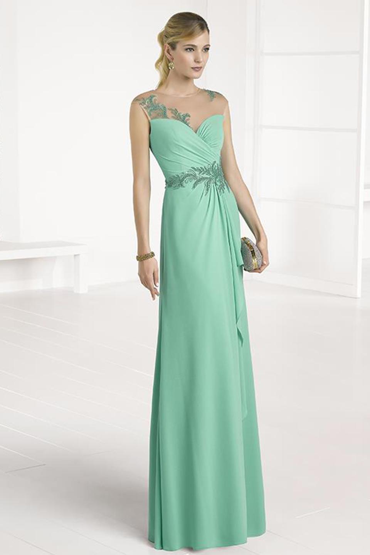 Vestido largo verde boda – Vestidos de noche populares foto del ...