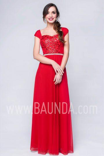 Vestido de fiesta largo rojo 2017 Baunda 1779