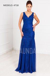 Vestido largo sirena azulón XM 4718