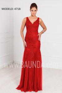 Vestido largo sirena rojo XM 4718