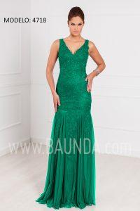 Vestido largo sirena verde XM 4718