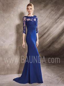 Vestido de madrina azul cobalto 2017 Its my Party 7276