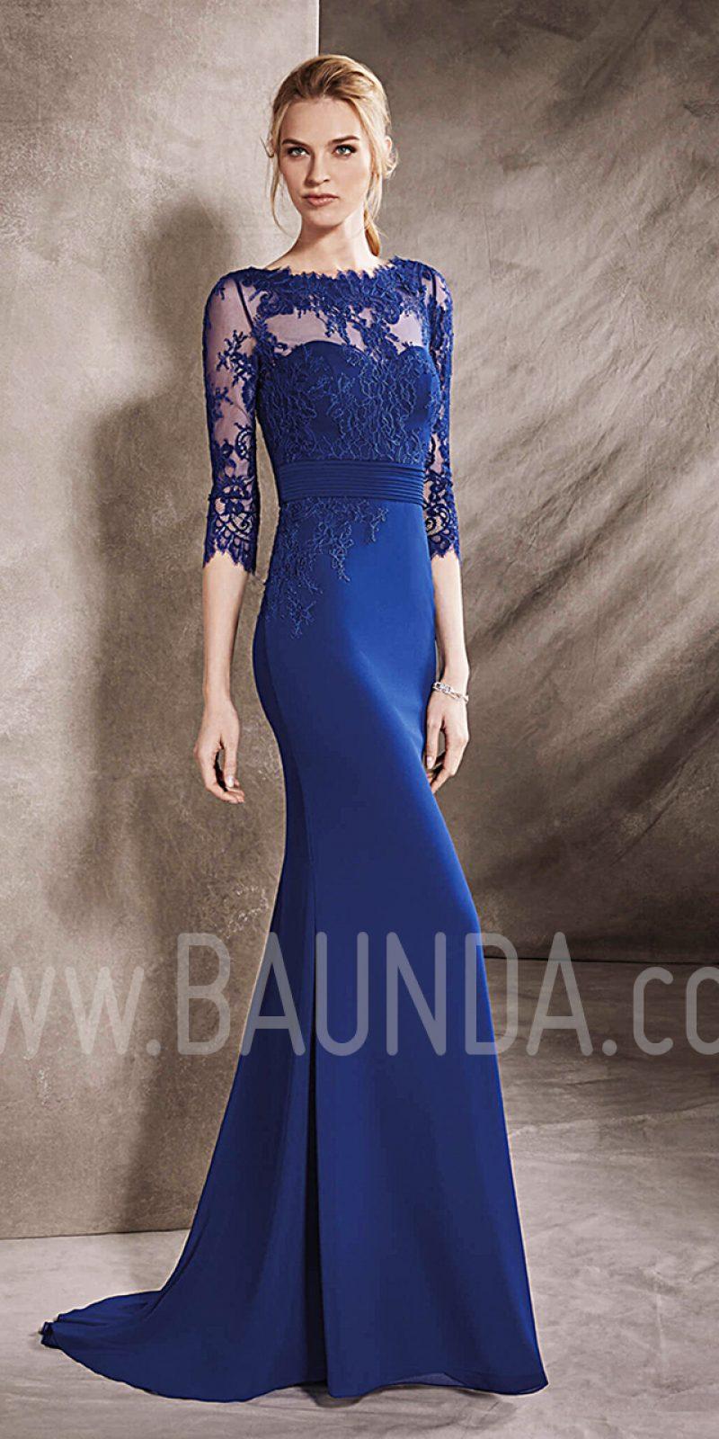 Vestidos largos de fiesta azul noche