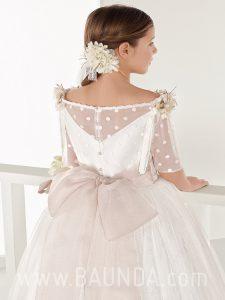 Vestido de comunión princesa Aire Barcelona 2018 FIORELLA espalda