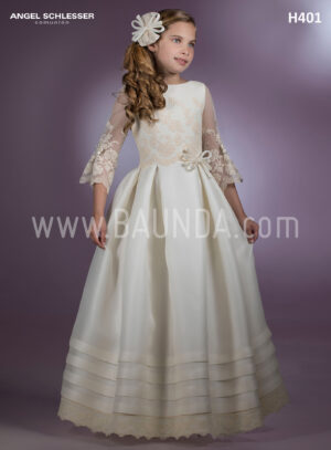 vestido de comunión de diseñador Angel Schlesser 2018 modelo H401