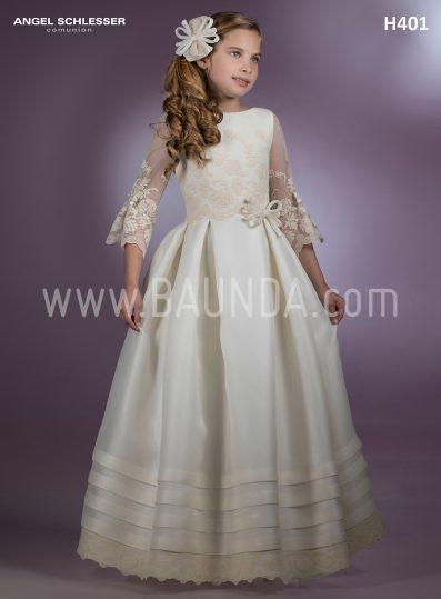 Communion dress spanish designer Angel Schlesser 2018 model H401
