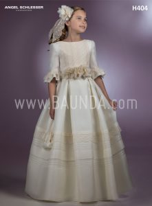 Communion dress designer Angel Schlesser 2018 model H404