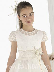 Vestido de comunión Elisabeth 2018 modelo SOBRE detalle