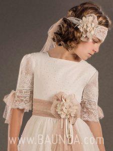 Vestido comunión vintage 2018 Marla modelo H281 detalle
