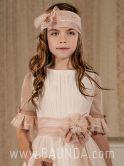 Vestido comunión moderno Lola Rosillo 2018 modelo Q158 detalle