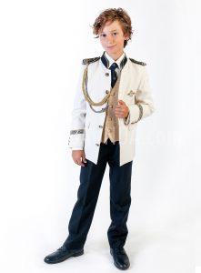 Traje de almirante mao dorado 2019 Varones 2045