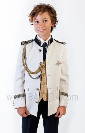 Traje de almirante mao dorado 2019 Varones 2045 detalle