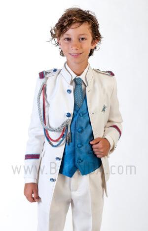 Traje de almirante azul 2018 Varones 2057 para comunión de niño detalle