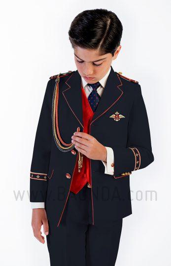 Traje de almirante rojo 2018 Varones 2058 para comunión de niño
