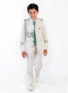 Traje de almirante verde 2018 Varones 2061 para comunión de niño