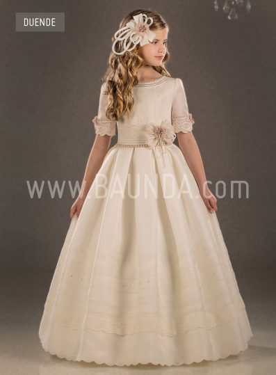 Silk communion dress Valeria 2018 model Duende