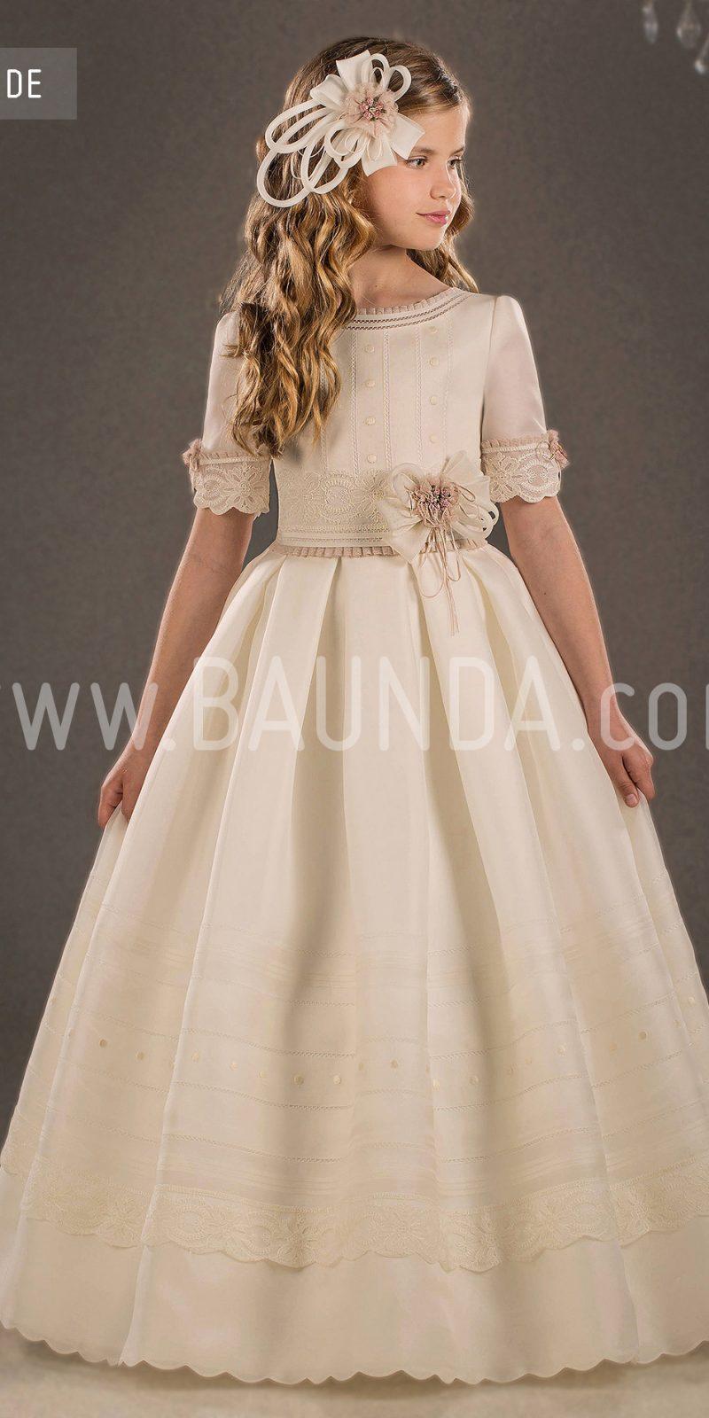 Baunda silk communion dress valeria 2018 model duende - Traje de duende para nino ...