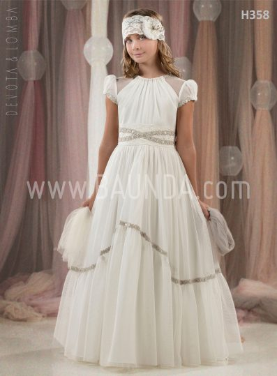 Vestido comunión Devota Lomba 2018 modelo H358