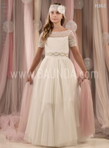 Communion dress Devota Lomba 2018 model H362 Baunda Madrid
