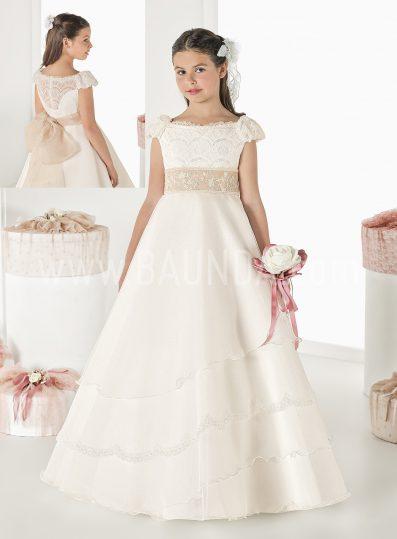 Vestido de comunión cuello barco Elisabeth 2018 modelo SONORA