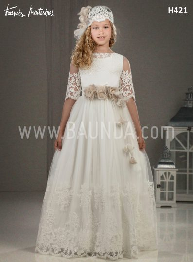 Communion dress with lace Francis Montesinos 2018 model H421
