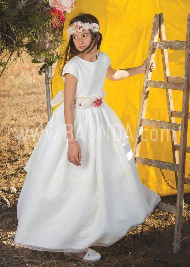 Vestido de comunión manga corta Loida 2018 modelo 111