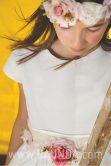 Vestido de comunión manga corta Loida 2018 modelo 111 detalle