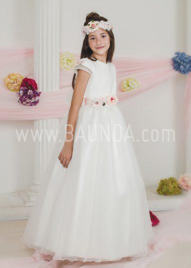 Vestido de comunión falda lisa Loida 2018 modelo 120