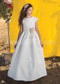 Vestido de comunión falda de plumeti Loida 2018 modelo 127