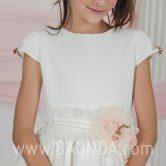 Vestido de comunión marfil Loida 2018 modelo 139 detalle