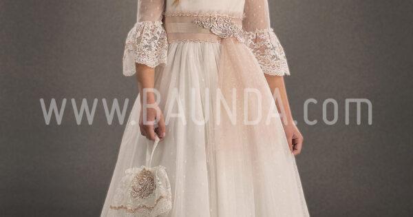 701e89deb Baunda Vestido de comunión bohemio 2018 Marla H236 en Madrid y tienda online