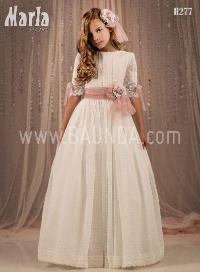 Vestido de comunión plumeti 2018 Marla modelo H277
