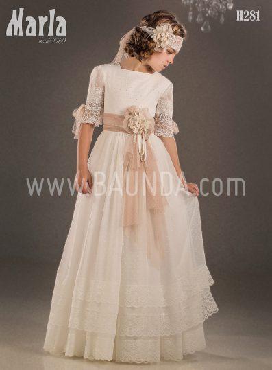Vestido comunión vintage 2018 Marla modelo H281