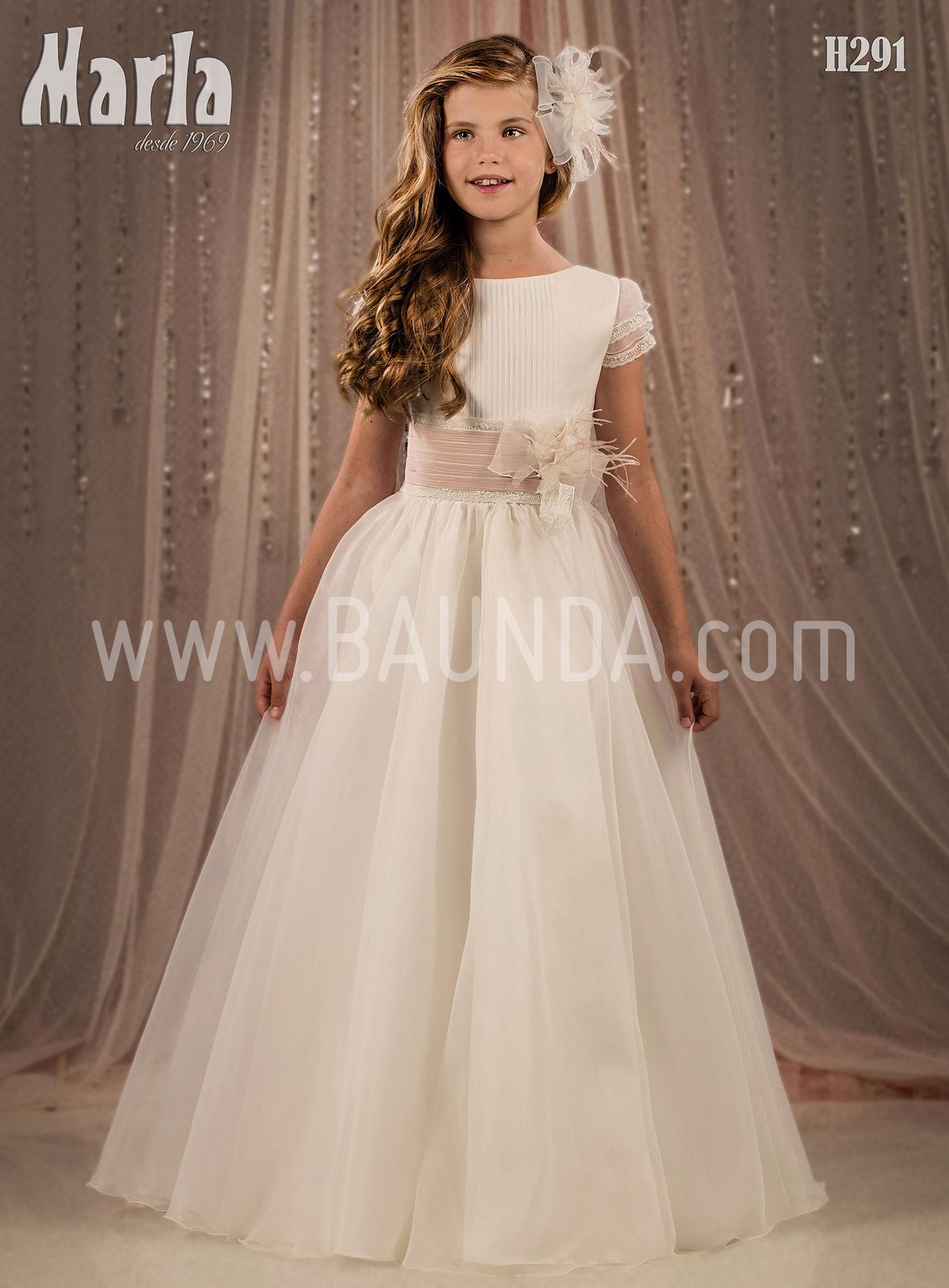 Vestido de comunión falda lisa 2018 Marla modelo H291