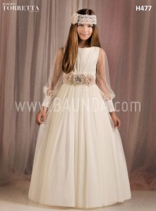 Communion dress long sleeves Roberto Torretta 2018 model H477