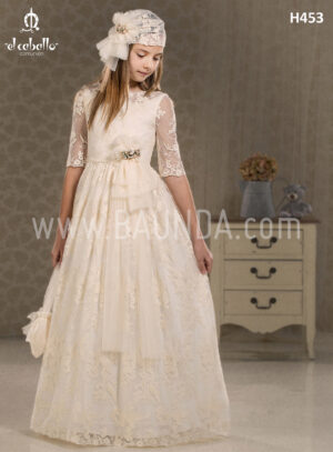 Communion dress lace El Caballo 2018 model H453
