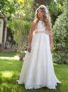 Vestido comunión sin mangas Magnífica Lulú 2018 modelo 314