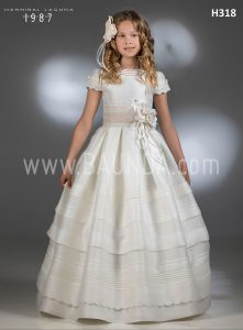 Communion dress silk Hannibal Laguna 2018 model H318