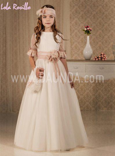 Vestido comunión moderno Lola Rosillo 2018 modelo Q158