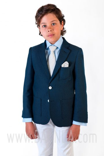 Communion suit navy blue and white Varones 2018 Sport 1833 C
