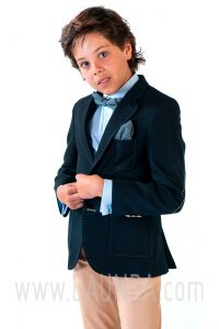 Communion suit navy blue and beige Varones 2018 Sport 1838 P