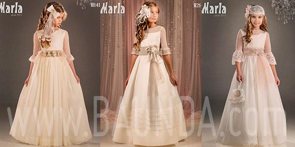 Vestidos de comunión manga francesa tul plumeti Marla 2018