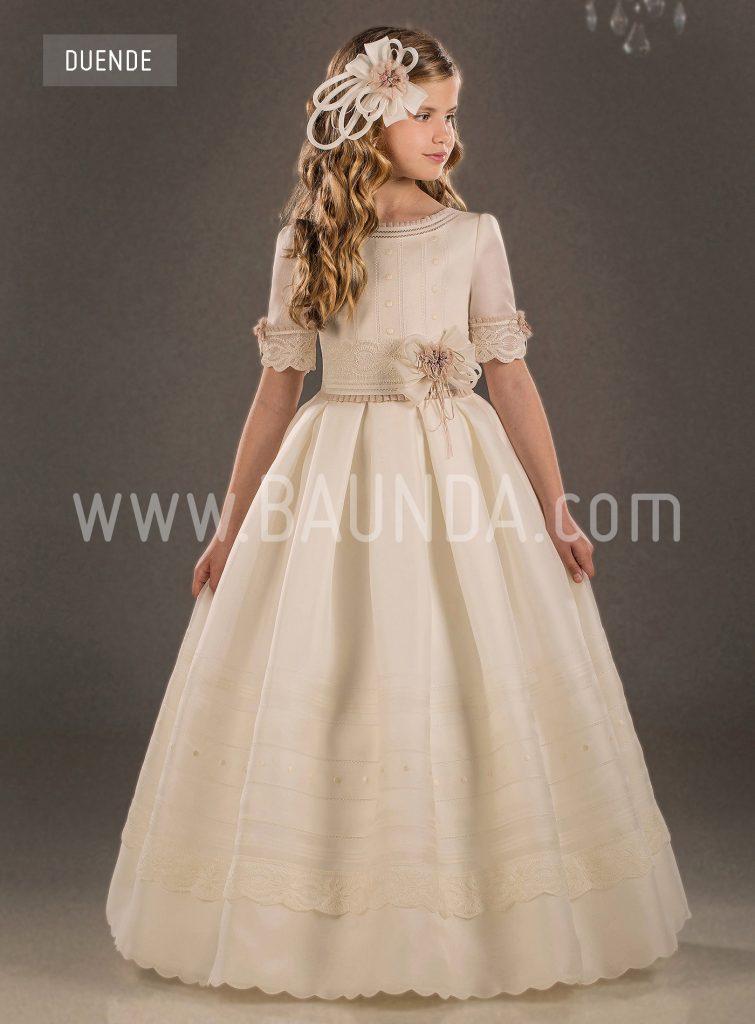 Vestidos de comunión en seda natural 2018 Valeria Duende