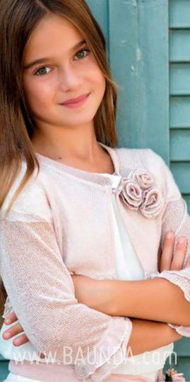 Chaqueta de comunión rosa palo 2018 Baunda C1818