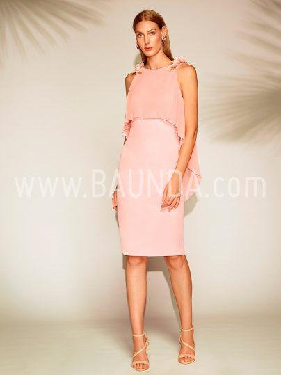 Vestido corto rosa palo Baunda 1801