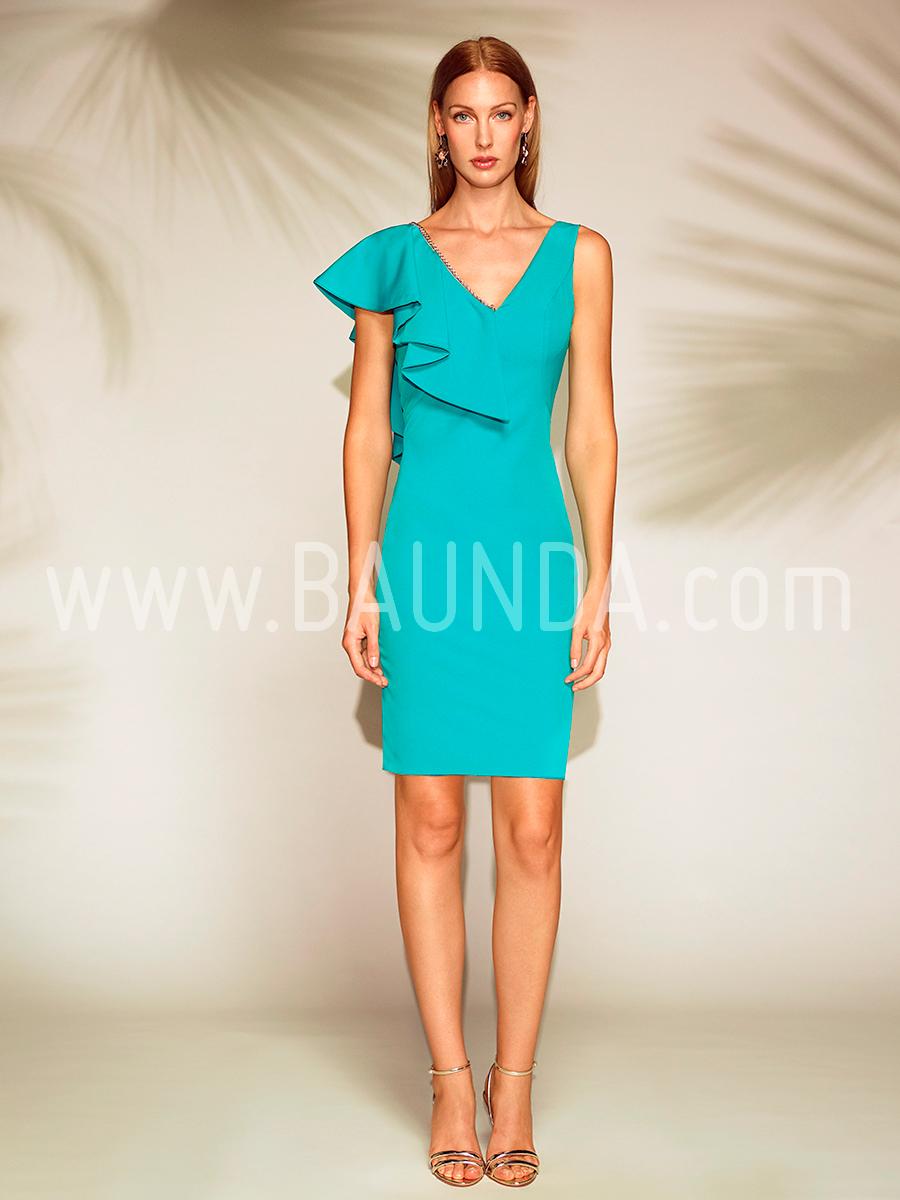 Baunda Vestido corto turquesa 2018 Baunda 1803 en Madrid y tienda online